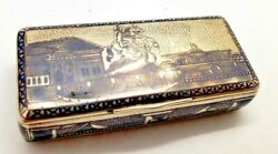 Antique Russian Imperial 84 Sterling Silver Snuff Box