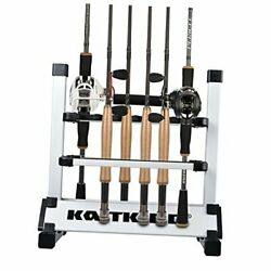 Fishing Rod Rack Andndash Perfect Fishing Rod Holder - Holds 12 Rods Rack Silverblack