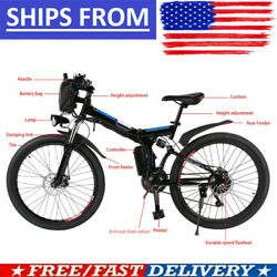 26and039and039 Electric Bike Mountain Bicycle Ebike Shimano 21speed 36v Li-battery 4black|