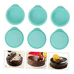 6-pack Silicone Cake Molds 4 Inch Round Silicone Cake Pans Baking Pan Set Green