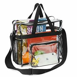Clear Bag Stadium Approved Waterproof Lightweight Transparent Tote Bag Gym $22.10