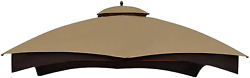 Replacement Canopy Top For Lowe's Allen Roth 10x12 Gazebo Beige Water Repellent