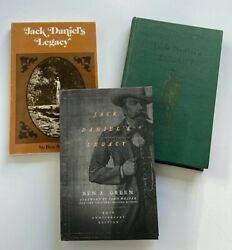 Jack Daniels Legacy Book Set, All 3 Editions Great Photos And History, Rare Set