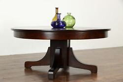 Arts And Crafts Mission Oak Antique 45 Round Craftsman Coffee Table 37236