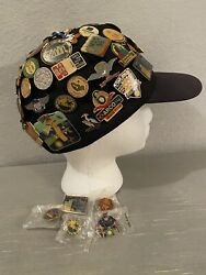 Collection Of 65+ Pins From A Shell Oil And Gas Refinery Retiree, Plus Hat