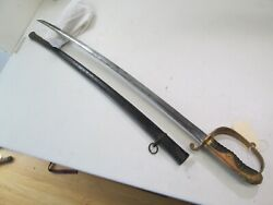 Russo Japanese Officers Cavalry Sword Katana And Scabbard And Blood Groove C30