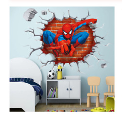 Wall Spiderman Sticker Decal Art Stickers 3d Vinyl Room Removable Kids 70*50cm