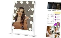 Vanity Mirror with Lights Hollywood Lighted Makeup Mirror Set with White