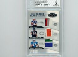 2002 Playoff Honors 2000 Rookie Jersey Patch Tom Brady 50/50 Bgs 8