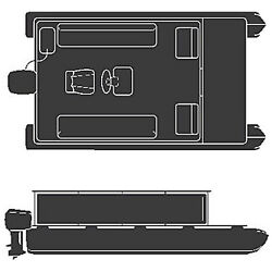 Land And039nand039 Sea Oem R-ready Cot 21-24and039 Foot Length Pontoon Cover 23-17791