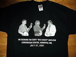 Maclean And Maclean Big Daddy Tribute Concert Event Winnipeg New T Shirt Size L