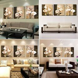 Classical Flower Canvas Wall Art Painting Floral Prints Bedroom Decor Unframed