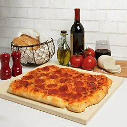 Pizza Stone For Oven Grill Bbq Rectangular Pizza Baking Stone- Xl 16 X 14 Pan