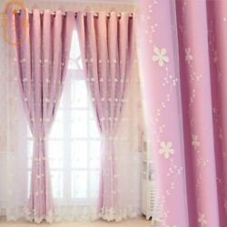 Red Princess Douyin Double-layer Curtains For Living Room Bedroom Girl Hipster