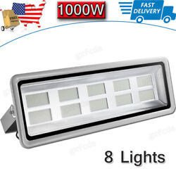 8x 1000w Led Flood Light High Power Cool White Superbright Outdoor Security Lamp