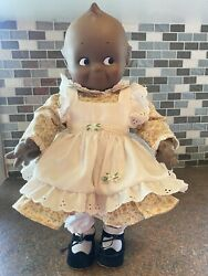 Vintage Cameo Kewpie Black Rubber Doll Squeaker Toy 1967 By Jesco Rare