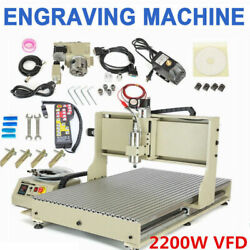 4 Axis 6090 Cnc Metal Wood Milling Machine Vfd Milling Cutting + Controller Usa