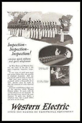 Candlestick Telephones 1925 Photo Ad Inspection Like West Point Cadets