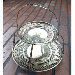 Webster Company Sterling Silver Tiered Tray Dish 11oz