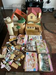 Huge Lot Calico Critters W/ Furniture And Accessories House's Lots Of Figures Toys
