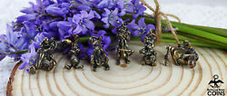 Set Of 6 Disney Winnie The Pooh Sterling Silver Collection 3d Pendant Charms