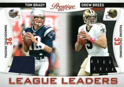 Tom Brady And Drew Brees 2011 Panini Prestige Ll Game Used Patch 14 108/200 Card