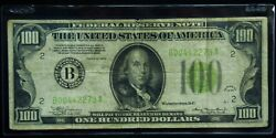 1934 100 Federal Reserve Note New York Very Fine - Lime Green