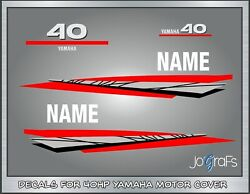 Yamaha 40hp Stroke Outboard Engine Decals Kit - Stickers