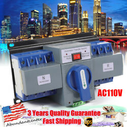 63a 4p Dual Power Automatic Transfer Switch Self Cast Changeover Switch Ac110v