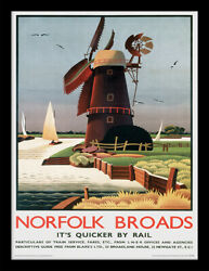 Norfolk Windmill By Alison Mckenzie Framed Official Print