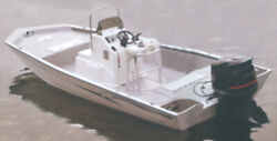 Cover For Aluminum Modified V-hull Jon Boats W/high Center Console-20and0396 X 100