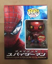 New Funko Pop Marvel Spider-man Blu Ray Dvd Set With Figures From Japan