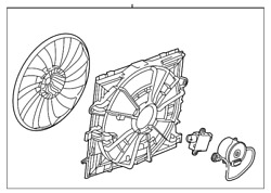 Genuine Gm Engine Cooling Fan Assembly 22895851