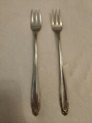 International Prelude Sterling Silver Two 2 Cocktail / Seafood Forks 1939