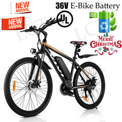 26and039and039 Electric Bike Mountain Bicycle Ebike Shimano 21speed 36v Li-battery Best Us