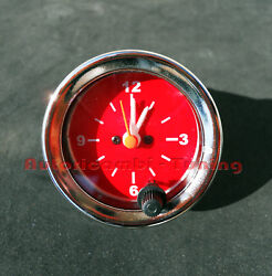 Watch 12v Bottom Red Numbers Bianchi Fiat 500 Various Car Old Ø 52mm