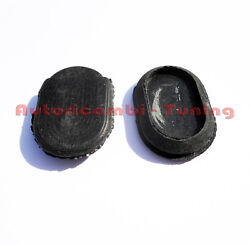 2 Cap Oval Blank Module Cover Hole Dashboard Fiat 500 L Old