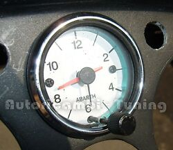 Watch 12v White Bottom Numbers Black Fiat 500 Various Car Old Ø 52mm