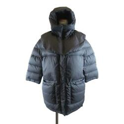Authentic Down Jacket Nylon X Down Black Used Size 36