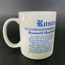 Ufo Flying Saucer Roswell Daily Record 1947 Newspaper Incident Headline Cup Mug