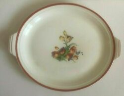 Vintage Steubenville China Tulips Pattern Charger Platter 14 1/2 X 11 1/2