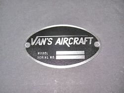 Aircraft Dea Required Aircraft Identification Data Plate Etched Stainless