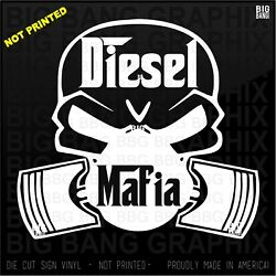 Diesel Mechanic Mafia Decal Dirty Hands Clean Money Rig Semi Heavy Equipment