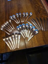 Georg Jensen Blue Shark Stainless Steel Service 33pc.