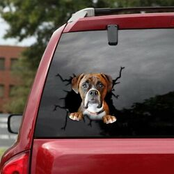 Boxer Car Decals Dog Car Stickers Dogs Lover Sticker Boxer Dog Decal 12X12quot;