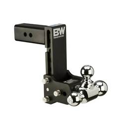 Bw Hitches Ts20049b Tow And Stow 2.5 Inch Shank Tri Ball Hitch Mount With 7 Inch