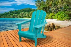 Outdoor Adirondack Chair Poly Folding Seat Lounge Patio Deck Garden Turquoise