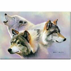 Wgi Gallery 'wolves Are Forever' Wall Art Printed On Wood Medium