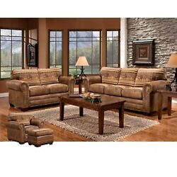 Wild Horses Lodge 4-piece Set Brown Country Rustic Southwestern