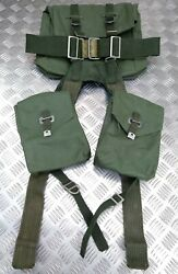 Genuine Vintage Army Issue Heavy-duty Backpack Belt Harness And Pouch Set Vinyl